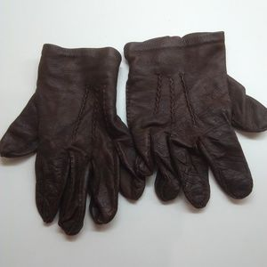 Accessories - Women's Brown Leather Gloves
